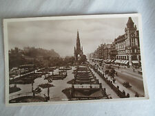 "VINTAGE RP POSTCARD "" PRINCE'S STREET LOOKING WEST, EDINBURGH "" POSTMARK 1944."
