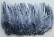 "100+ (9g, 0.32Oz) Silver Gray 5-7"" saddle COQUE rooster Feathers for crafting"