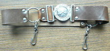 "Estonia Estonian Girl Guides Leather Belt ""Ole Valmis"" Buckle 1930s RARE"