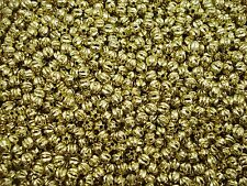 Melon Beads Round 6mm. Gold 25g Spacer Beading Jewellery Beaded FREE POSTAGE