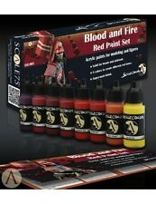 Scale 75 Blood & Fire Red Colours Acrylic Paint Set 8 Bottles