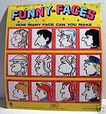 Funny Face Gumball Vending Machine Card Old Stock