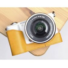 Ciesta Synthetic Leather Half Case Sony A5000 Yellow