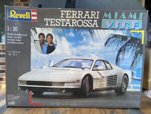 HUGE VINTAGE REVELL MIAMI VICE FERRARI TESTAROSSA TV CAR 1:16 MODEL KIT NMIB!