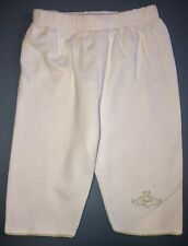 Kissy Kissy Premier Boutique White Casual Pima Pants 0-3 Months Frog Embroidered