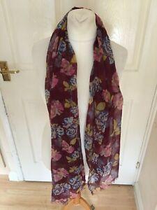 Lovely Purple Flower Mix Wrap Scarf Shawl Head Scarf