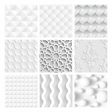 Tile Stickers Transfers Kitchen Bathroom White / Grey Various Tones 3D effect