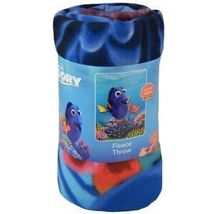 """Blanket Fleece Throw 45""""x60"""" Finding Dory Nemo Blue Ocean Coral Reef NEW"""