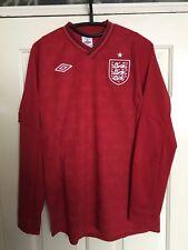 England Adult 2012/13 Red Away Long Sleeve Shirt (White Badge)