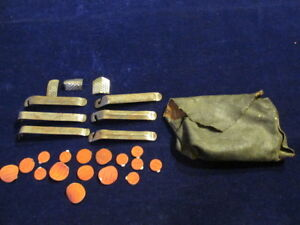 Vintage French Tire Repair Kit Rustines Spoke Wrench Patche File Pouch Lot 26 Sj
