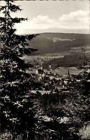 Bischofsgrün Fichtelgebirge s/w Postkarte 1961 Gesamtansicht von oben Panorama