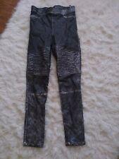Fashion Nova Pants/leggings For Girls Youth Size Medium silver grey