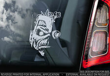 Iron Maiden 'Eddie'- Car Window Sticker - Somewhere In Time Tattoo Head - TYP9
