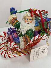 Christopher Radko Candy Ride Santa in Sleigh Ii Ornament Box