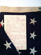 Early 1900's U.S. Bunting Standard 48 Star Wool Flag W/ WW1 Army Officer History