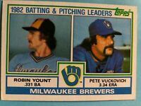 1983 Topps Milwaukee Brewers Complete Team Set - 28 cards Yount/Molitor/Fingers