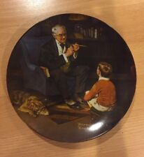 """Vintage Knowles Plate """"the Tycoon� Norman Rockwell Heritage, Grandfather Gift"""