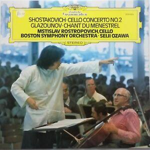 Shostakovich: Cello Concerto No. 2 / Rostropovich / Ozawa / DG LP 2530 653