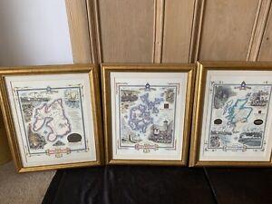 Scottish Malt Whisky Regions Framed Prints X 3
