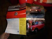 Ancien Catalogue Affiche  Mini British Leyland Austin 850 & 1000  1970