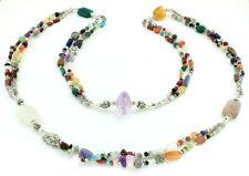 Necklace natural amethyst citrine carnelian moonstone multi gemstones jewellery
