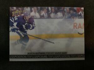 2017-18 UD Tim Hortons Hockey Triple Exposure Leafs Auston Matthews Card #TE-5