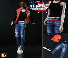"1/6 Baseball Jacket Clothing Sneakers Set B For 12"" Hot Toys Phicen Figure ❶USA❶"