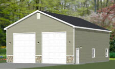 36x44 2 RV Garage - 1,584 sq ft - PDF Floor Plan - Model 1A