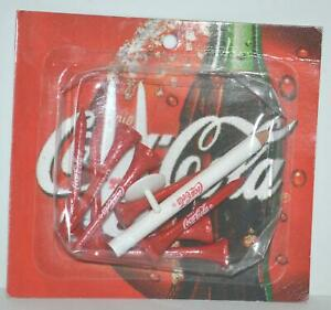Vintage Promotional Advertising Coca Cola 8 Golf Tees 2 Ball Markers Tool Pencil