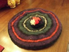 Vintage Adult Size Wool Beret Hat Scotland - Red Green Purple black colors