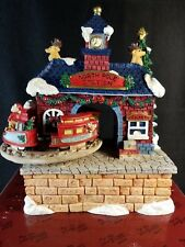 The San Francisco Music Box co. 1996 North Pole R.R station Santa coming to town