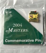 2004 Masters golf pin phil mickelson wins augusta national commemorative pga