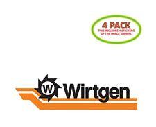 Wirtgen Sticker Vinyl Decal 4 Pack