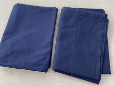 Pottery Barn Kids Navy Blue Toddler Pillowcases 16 X 24 Lot Of 2