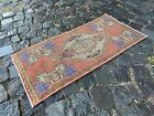 Vintage doormats, Turkish small rug, Hand-knotted wool rug,Carpet   1,4 x 2,9 ft