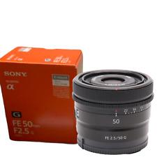 New SONY FE 50mm f/2.5 G Lens E Mount (SEL50F25G)