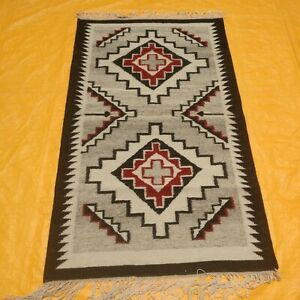 Small Wool Kilim Navajo Southwestern Bohemian Runner Rug 3'x5' Handmade Area Rug