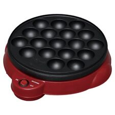 TAKOYAKI Grill Pan maker cooking plate stove machine Octopus ball from JAPAN red