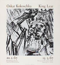 Oskar Kokoschka. King Lear. Ausstellung Kunstkabinett Fischer 1967. Siebdruck