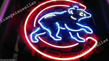 17X14 Chicago Cubs Old Style Baseball Real Beer Bar Neon Light Sign Pub Display