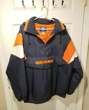 Vintage NFL Chicago Bears Football Reebok Pullover Hoodie Jacket Coat - Men's M