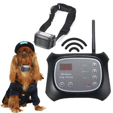 Electric Pet Dog Wireless Fence Underground Containment  Transmitter Collar