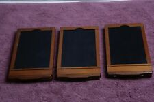 Three 13.5 cm x 8.5 cm Cut Sheet Film Holders Nice
