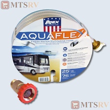 "Apex Aquaflex 25' x 1/2"" Water Hose + Valterra Lead Free Pressure Regulator NEW"