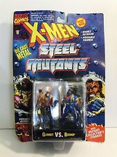 Marvel Comics X-Men Steel Mutants Die Cast Metal Figures Gambit vs. Bishop