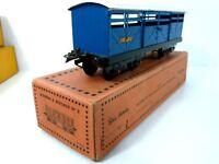 Hornby Meccano ged.Güterwagen SNCF  Spur 0  OVP 1950er J. 4-achsig unbespielt