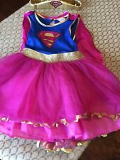 Girls Supergirl Fairy Princess Dressing Up Costume 5-6