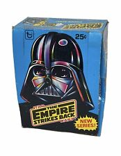 More details for vintage star wars esb 1980 series 2 topps trading cards empty display box
