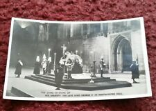 REAL PHOTO POSTCARD - King George V Lies in State at Westminster Hall