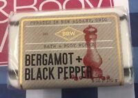 SEALED Bath and Body Works Bergamot + Black Pepper Botanical Blend 6 oz Bar Soap